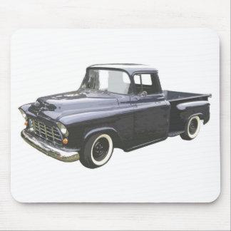 Recogida 1956 de Chevrolet del negro Alfombrilla De Ratones