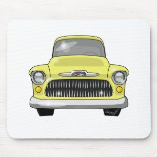 Recogida amarilla de 1957 Chevy Mousepads