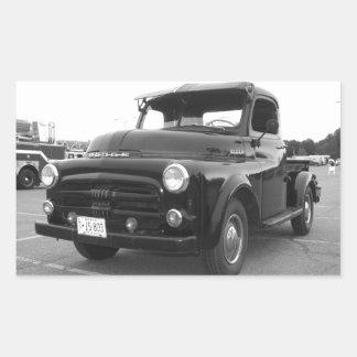 Recogida de 1952 Dodge Pegatina Rectangular