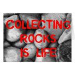 Recogida de rocas tarjetas