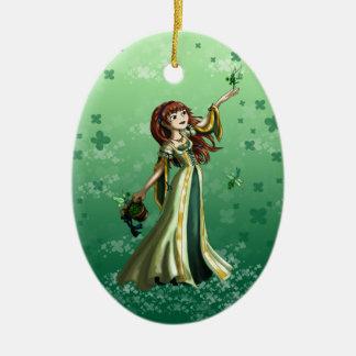 Recogida de Shammrocks Ornamento De Reyes Magos