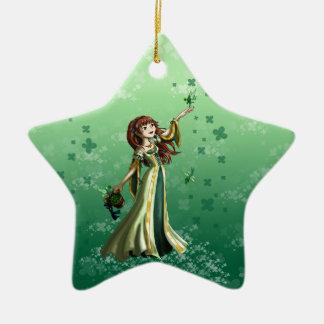 Recogida de Shammrocks Ornamentos De Reyes Magos