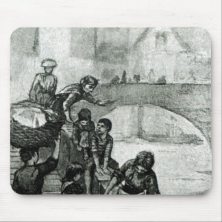 Recogida del agua del río alfombrillas de raton