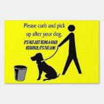 Recogida después de su perro