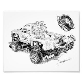 Recogida retra del juguete/camión renovado fotografía