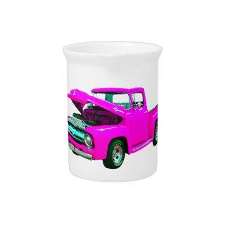 Recogida rosada jarra para bebida