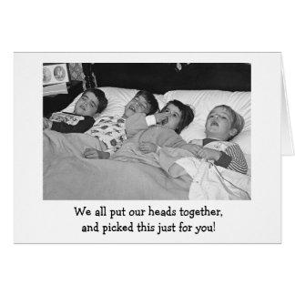 Recogido a mano tarjeta de felicitación