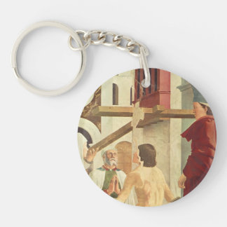 Recognition of the True Cross by Piero Francesca Single-Sided Round Acrylic Keychain