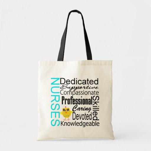 Recognize a Nurse:  Nurses Recognition Collage Tote Bags