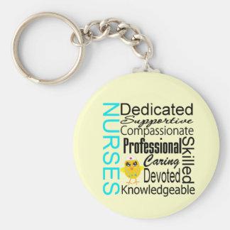 Recognize a Nurse:  Nurses Recognition Collage Keychain