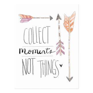 Recoja el cambio de los momentos el | su color de postal