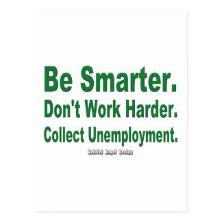 Recoja el desempleo tarjetas postales