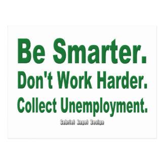 Recoja el desempleo postales