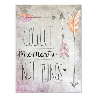 Recoja las cosas de los momentos no cojinete