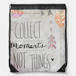 Recoja las cosas de los momentos no mochila