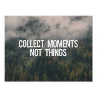 Recoja las cosas de los momentos no póster