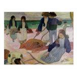 Recolectores de la alga marina, 1889 postales