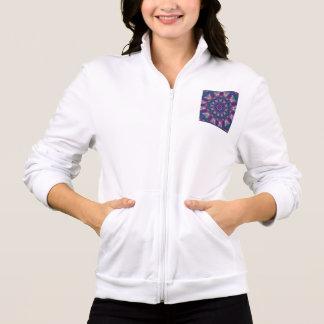 Recolectores ligeros, mandala púrpura abstracta má chaqueta imprimida