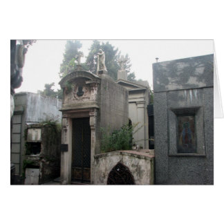 Recoleta Cemetery, Buenos Aires, Argentina Card