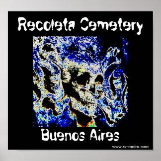 Recoleta Cemetery, Buenos Aires (Solarized) Poster