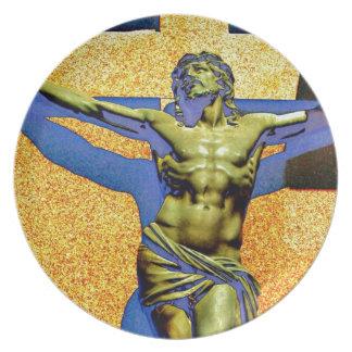 Recoleta Crucifix Monument Plate