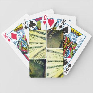 """Recoleta de los """"números afortunados"""" cartas de juego"""