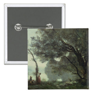Recollections of Mortefontaine, 1864 2 Inch Square Button