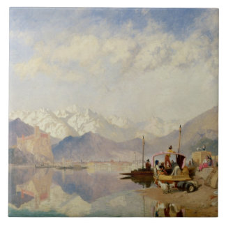 Recollections of the Lago Maggiore, Market Day at Large Square Tile