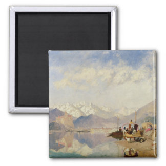 Recollections of the Lago Maggiore, Market Day at 2 Inch Square Magnet