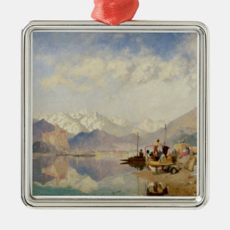 Recollections of the Lago Maggiore, Market Day at Square Metal Christmas Ornament