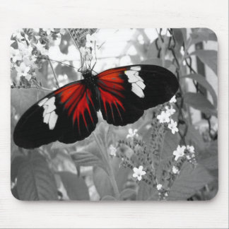 Recolor_P1090215  Black and Red Butterfly full win Mouse Pad