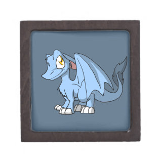 Recolorable SD Furry Dragon w/ Any Dark Color Back Jewelry Box
