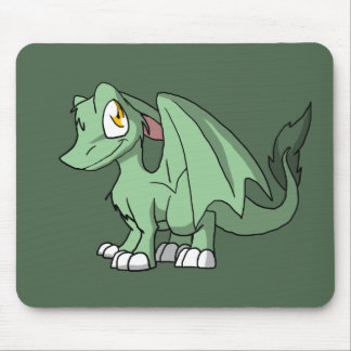 Recolorable SD Furry Dragon w/ Any Dark Color Back Mouse Pad