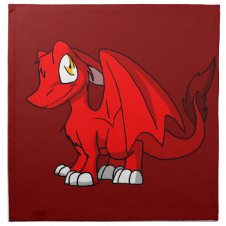 Recolorable SD Furry Dragon w/ Any Dark Color Back Napkin