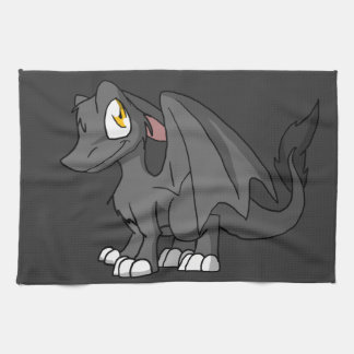 Recolorable SD Furry Dragon w/ Any Dark Color Back Towel