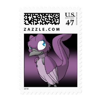 Recolourable Reptilian Bird Stamp