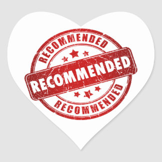 Recommended Heart Sticker