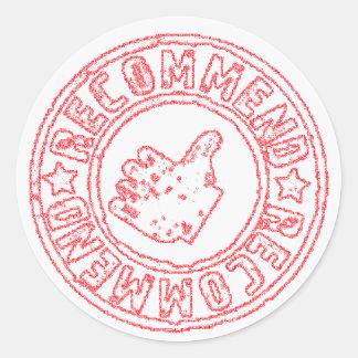 Recommended - Recomendado Classic Round Sticker