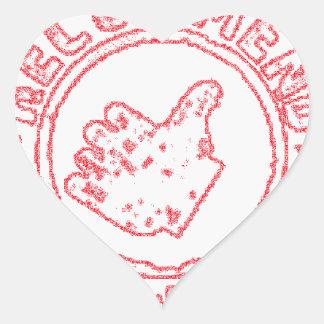 Recommended - Recomendado Heart Sticker