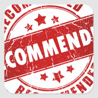 Recommended Square Sticker