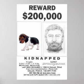 RECOMPENSA completamente ADAPTABLE secuestrada del Poster