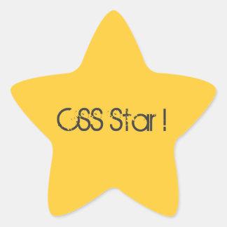 Recompensa de la estrella del CSS Pegatina En Forma De Estrella