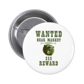 Recompensa del mercado bajista pin redondo 5 cm