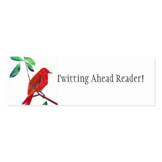 Recompensa Minicard de la lectura Tarjetas De Visita Mini