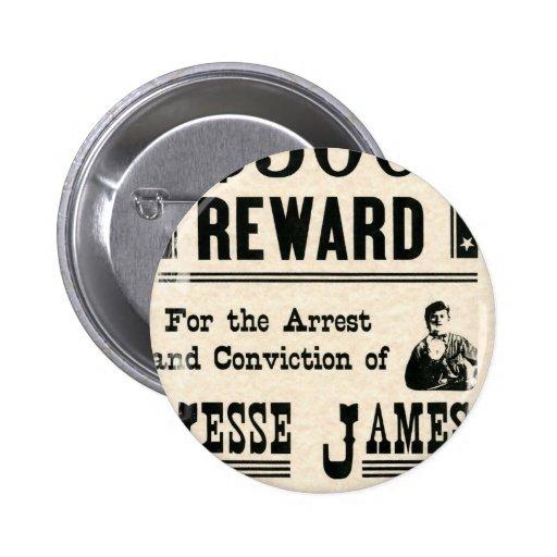 Recompensa por Jesse James Pins