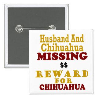 Recompensa que falta de la chihuahua y del marido pin