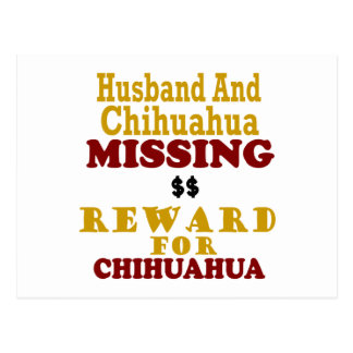 Recompensa que falta de la chihuahua y del marido  postales