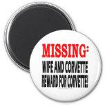 Recompensa que falta de la esposa y del Corvette p Imán