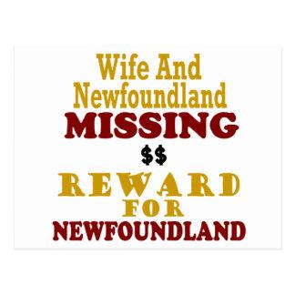 Recompensa que falta de Terranova y de la esposa p Postal