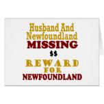 Recompensa que falta de Terranova y del marido por Felicitacion